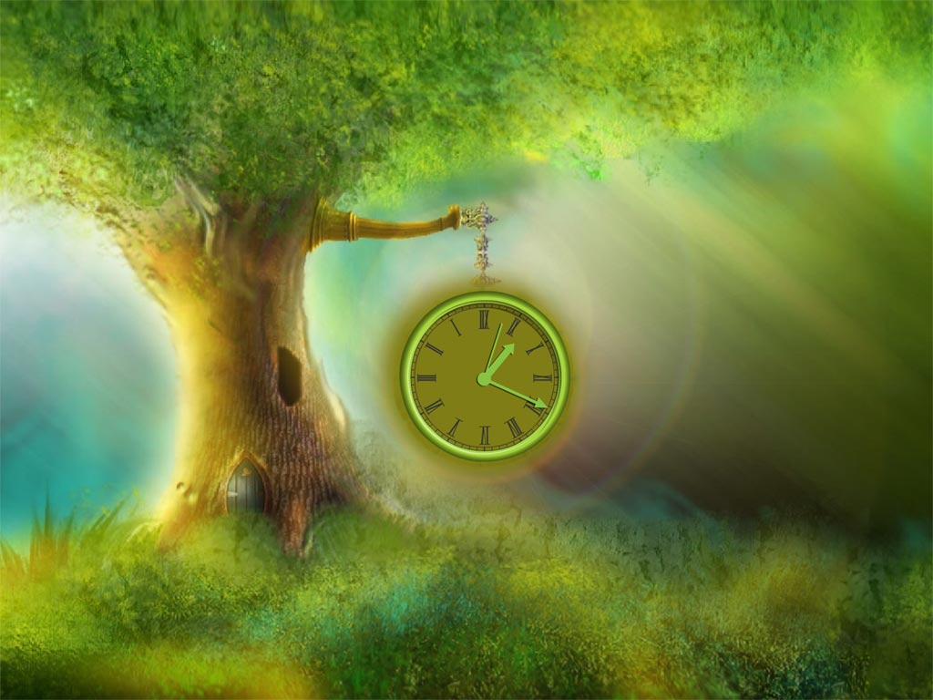 Magic Tree Clock Screensaver