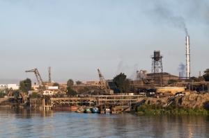 pencemaran industri di sepanjang Nil